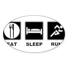 Eat sleep run Decal