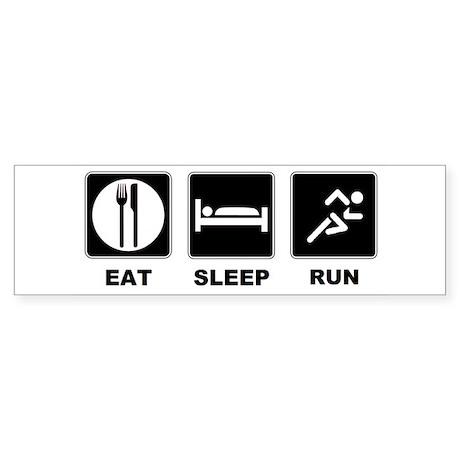 Eat sleep run Sticker (Bumper)
