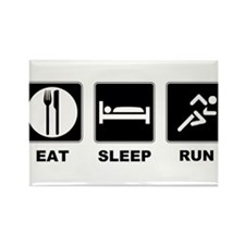 Eat sleep run Rectangle Magnet
