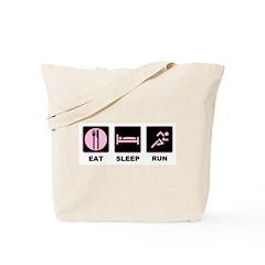 Eat sleep run Tote Bag
