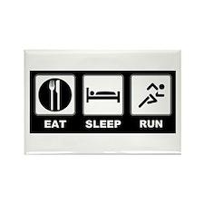 Eat sleep run Rectangle Magnet (10 pack)