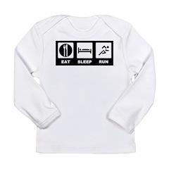Eat sleep run Long Sleeve Infant T-Shirt