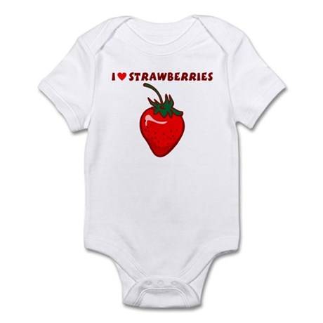 I Love Strawberries Infant Bodysuit