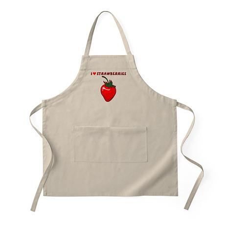I Love Strawberries Apron
