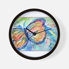 Beautiful, Butterfly, Wall Clock