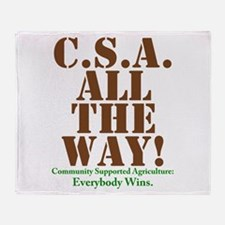 C.S.A. All The Way! Throw Blanket