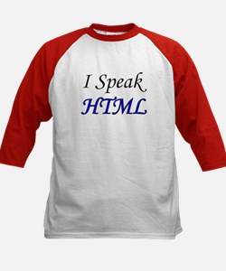 """I Speak HTML"" Kids Baseball Jersey"