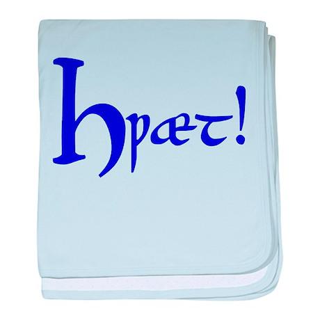 Hwaet! (Blue) baby blanket