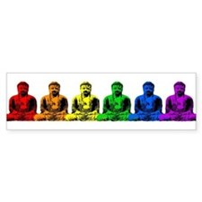 Row of Rainbow Buddha Statues Bumper Bumper Sticker