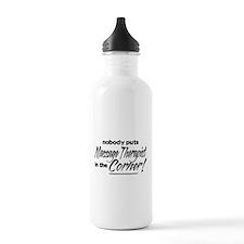 Massage Therapist Nobody Corner Water Bottle