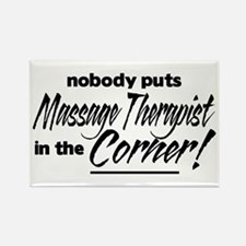 Massage Therapist Nobody Corner Rectangle Magnet