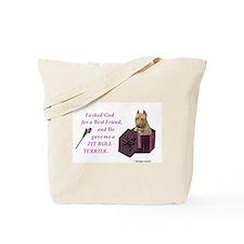Pit Bull Tote Bag (Tan)