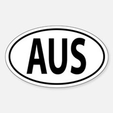 AUS - Australia Sticker (Oval)