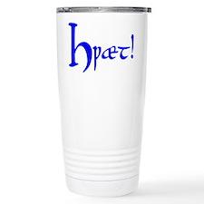 Hwaet! (Blue) Thermos Mug