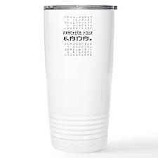 Practice Your Kana Travel Coffee Mug