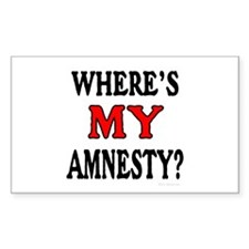 Where's MY Amnesty? Rectangle Decal