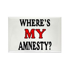 Where's MY Amnesty? Rectangle Magnet