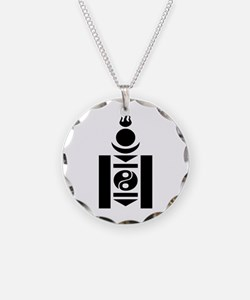 Soyombo Necklace Circle Charm