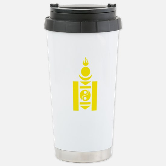 Soyombo Gold Stainless Steel Travel Mug