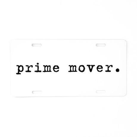 Prime Mover Aluminum License Plate