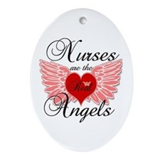 Cute Nurses Ornament (Oval)