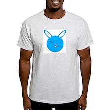 Winkin Blue Bunny Ash Grey T-Shirt