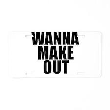 Cute Want Aluminum License Plate