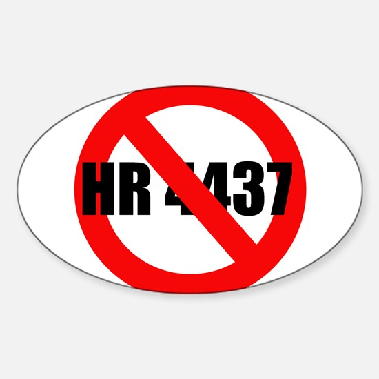 No HR 4437 Oval Decal