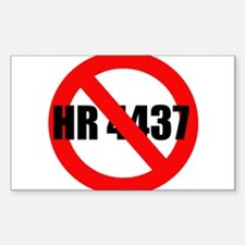 No HR 4437 Rectangle Decal