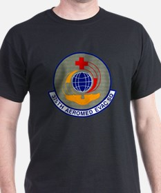 375th Aeromedical Evacuation Black T-Shirt