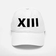 Xiii (13 In Roman Numerals) Baseball Baseball Cap