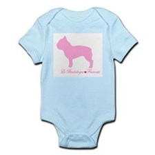 French Bulldog Pink Infant Creeper