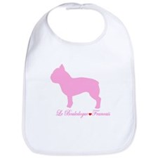 French Bulldog Pink Bib