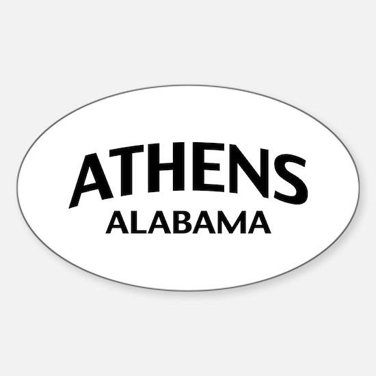 Athens Alabama Sticker (Oval)