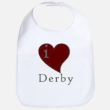 I heart Derby (red) Bib
