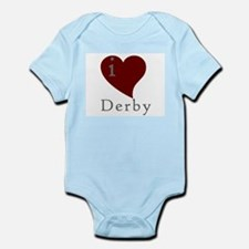 I heart Derby (red) Infant Creeper
