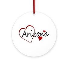 I Love Arizona Hearts Ornament (Round)