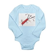 Cute Swiss army Long Sleeve Infant Bodysuit