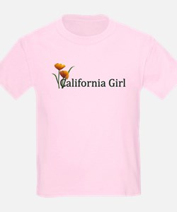 California Girl Poppies T-Shirt