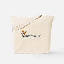 California Girl Poppies Tote Bag