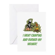 Burned My Weiner! Greeting Card