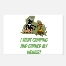 Burned My Weiner! Postcards (Package of 8)