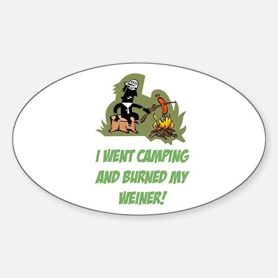 Burned My Weiner! Sticker (Oval)