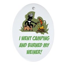 Burned My Weiner! Ornament (Oval)