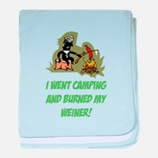 Burned My Weiner! baby blanket