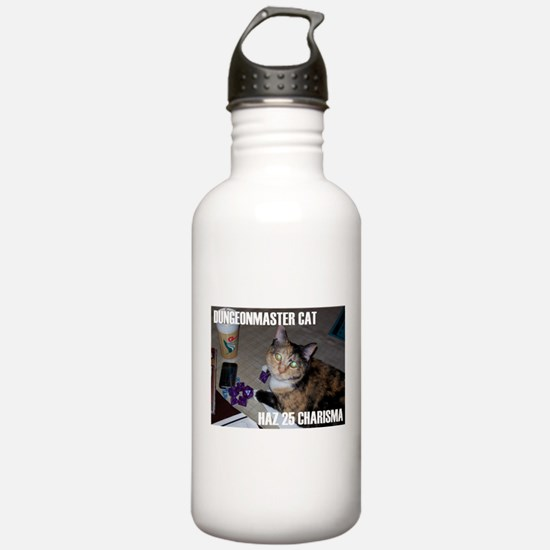 Dungeonmaster Cat Water Bottle