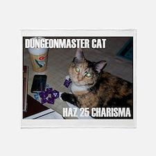 Dungeonmaster Cat Throw Blanket