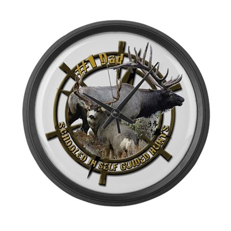 Hunting dad Large Wall Clock