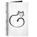 Whimsical Black Cat Journal