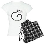 Whimsical Black Cat Women's Light Pajamas